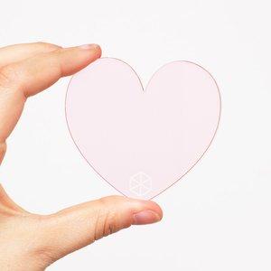 Bloque de metacrilato Kimidori Colors Corazón
