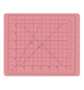 Base de corte rosa Cm y Pulgadas 19x23 cm