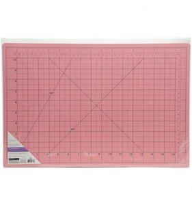 Base de corte rosa Cm y Pulgadas 30,5x45 cm