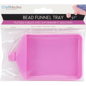 Mini bandeja recogedora de confetti y purpurina rosa