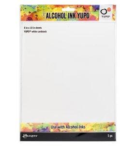 "Tarjetas 8x10"" Alcohol Ink Yupo 85 lb"