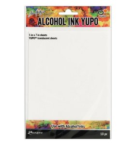 "Tarjetas 5x7"" Alcohol Ink Yupo Translucent"