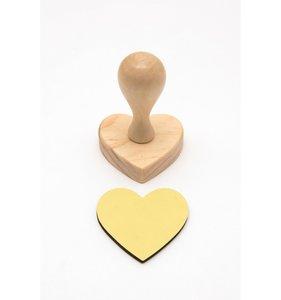 Mango de madera para sellos corazón