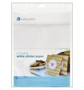 Papel adhesivo blanco Silhouette