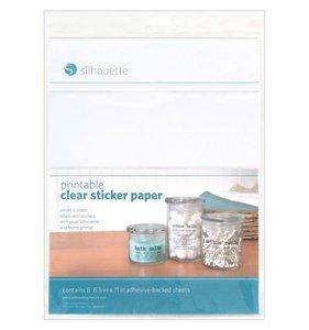 Papel adhesivo transparente Silhouette