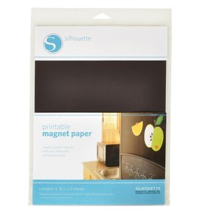 Hojas de papel magnético Silhouette