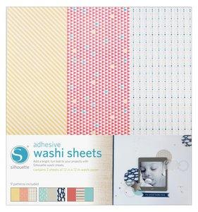 Hojas adhesivas tipo Washi para Silhouette