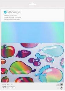 Papel adhesivo Silhouette Iridiscente 8 pcs