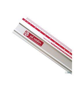 Regla metálica antideslizante 30 cm