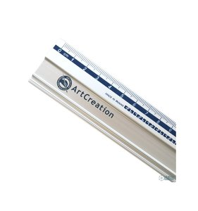Regla metálica antideslizante 40 cm