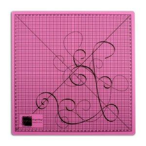 Base de corte transparente rosa 35x35 cm