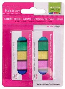 Grapas de colores Vaessen 2000 pcs