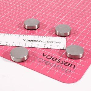 Mat metálico Vaessen con regla e imanes extrafuertes