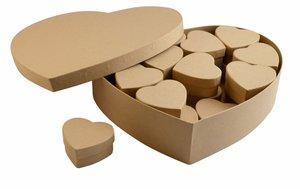 Caja Kraft corazón con 24 cajitas interiores