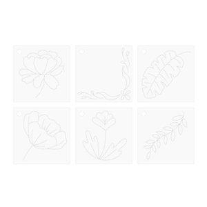Set de plantillas Floral para Stitch Happy Pen