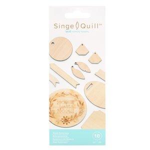 Singe Quill Set de formas de madera