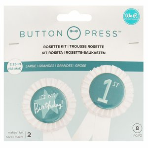 We R Button Press rosetas tamaño grande 58 mm