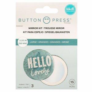 We R Button Press espejitos tamaño grande 58 mm