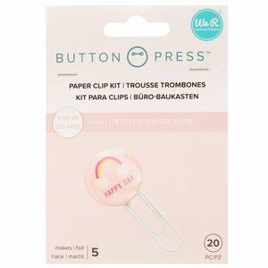 We R Button Press clips tamaño pequeño 25 mm