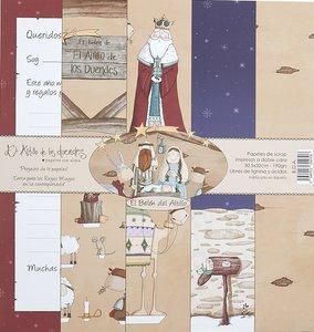 Kit de recortables El Belén de El Altillo de los Duendes 4 papeles