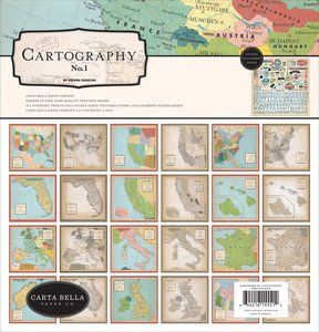 Kit Carta Bella Cartography Nº 1