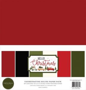Kit Carta Bella Hello Christmas Solids