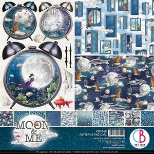 "Pad 12""x12"" Ciao Bella Moon & Me Patterns"