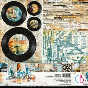 """Pad 12""""x12"""" Ciao Bella Blue Notes Patterns"""