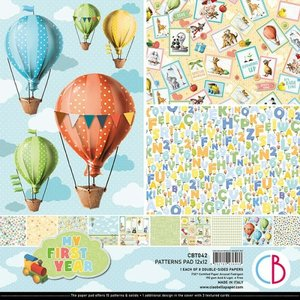 """Pad 12""""x12"""" Ciao Bella My First Year Patterns"""