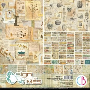 """Pad 12""""x12"""" Ciao Bella Sign of the Times Patterns"""