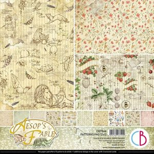 """Pad 12""""x12"""" Ciao Bella Aesop's Fables Patterns"""