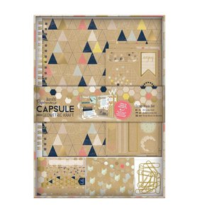 Kit Cuaderno creativo Capsule Geometric Kraft