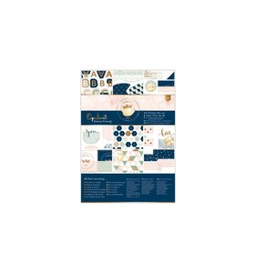 Kit A4 de papeles y adornos Opulent