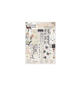 Kit A4 de papeles y adornos Festive Fauna