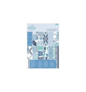 Kit A4 de papeles y adornos Moroccan Blue