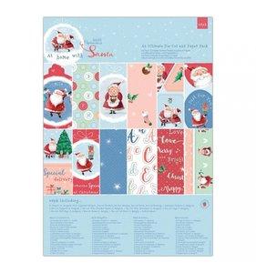 Kit A4 de papeles y adornos At Home with Santa