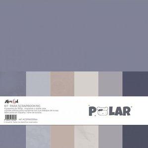 Kit 12x12 colores sólidos Alúa Cid Polar