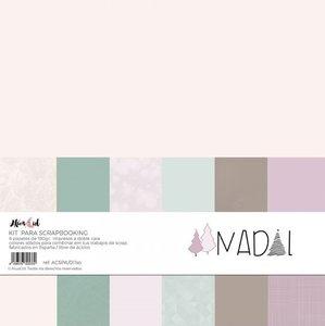 Kit 12x12 colores sólidos Alúa Cid Nadal