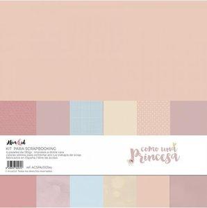 Kit 12x12 colores sólidos Alúa Cid Como una Princesa