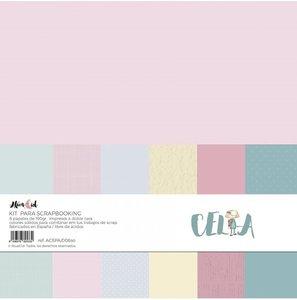 Kit 12x12 colores sólidos Alúa Cid Celia