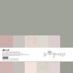 Kit 12x12 colores sólidos Alúa Cid Si Quiero