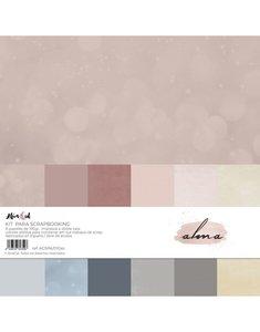 Kit 12x12 colores sólidos Alúa Cid Alma