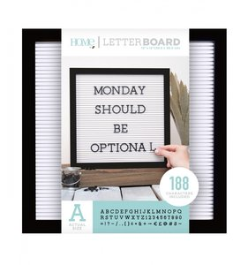 Letter Board 12x12 Black & White