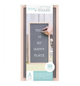 Letter Board 10x20 Natural & Gray