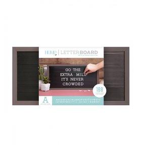 Letter Board 20x10 Gray & Black