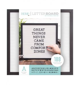 Letter Board 16x16 Black & White