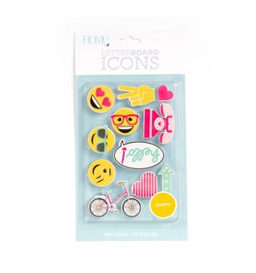 Set HAPPY Letter Board Icons