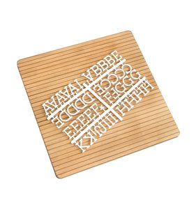 "Letter Board sin marco Dark Wood 12""x12"""