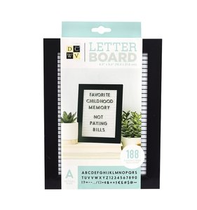 "Mini Letter Board 5""x7"" White with black frame"