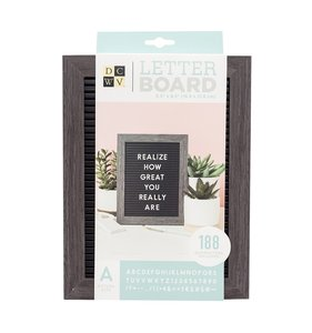 "Mini Letter Board 5""x7"" Black with Grey Frame"